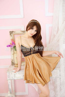 Wholesale Europe Khaki Braces Skirt Sexy Lingerie Temptation Sexy Women Dress Ladies Underwear Sleep Dresses wear f54