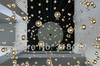 Contemporary 110V LED New Chandelier Bucci Fashion 36 Led bulbs Meteor Shower Crystal Light Fixtures Lamp ! Guaranteed100% Free Pendant 9022-36 round square