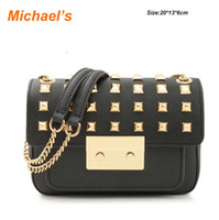 Wholesale 2014 USA MichaelKs Sloan Stud Small Shoulder Flap Bag Chain Michael Handbags Genuine Leather Bags Women Leather Handbags Bolsas