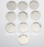Wholesale 10 Styles Mix Stainless Steel Floating Plate For mm Glass Lockets
