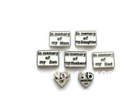 Charms Traditional Charm PERSONALIZED In Memory Floating Charms for Memory Locket Necklace Enamel Floating Charms for Glass Living Locket 50pcs lot