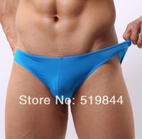 Wholesale Male trigonometric panties male viscose low waist translucent panties mens bikini briefs sexy lingerie men