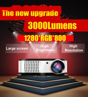 LCD 1080i home projector - Freeshipping ATCO Video i Home theater Cinema HDMI x800 High resolution P LED D HD TV Projector Long life led lamp Hours
