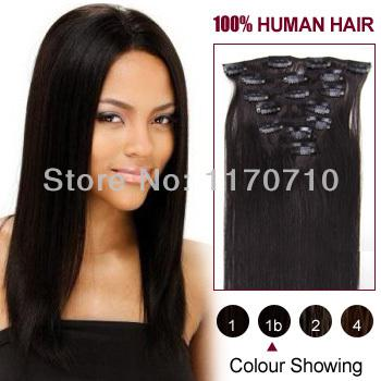100 indian remy human hair clip in hair extensions full