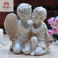 Wholesale European resin Crafts Garden ornaments retro character creative couple cupid angel decorations