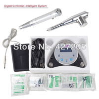 Wholesale New Permanent Makeup Digital Tattoo Machine Controller Intelligent System with Two Makeup Eyebrow Tattoo Pens