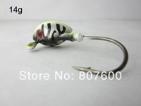High Carbon Steel Barbed Hooks Saltwater Fishing Live Bait Jig Lead Fish Jig Head Hook 14g Tiger Head 20 Pcs Lot