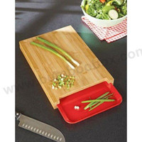 ECO Friendly bumboobox  Bamboo cutting board with drawer for food storage