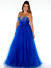 Wholesale Elegant Sweetheart Plus Size Special Occasion Dresses A Line Tulle Bead Ruffle Floor Length Prom Dress Celebrity Gown