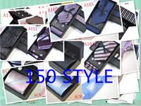 Wholesale New Style Classic Yarn Dyed Woven Silk Men s Tie Necktie Set Tie Hanky Cufflinks Set3pcs giving Tie Clip