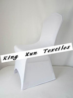 Wedding Chair Spandex / Polyester white Lycra Spandex Chair Cover For Wedding High Quality