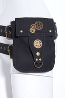 Wholesale RQ BL Brand Unisex Steampunk Belt Bag gears waist Pack SP039 green black brown colors