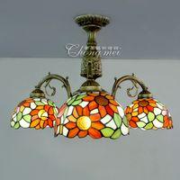 Wholesale glass lamps lighting living room ceiling pastoral Restaurant Cafe Restaurant bedroom home lighting