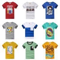 Boy Summer Children Children's T-Shirt 2013 summer boys girls clothing 100% cotton short child short-sleeve T-shirt basic shirt free shipping