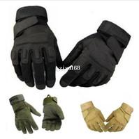 Wholesale New Black Hawk Motorcycle Bicycle Motorbike Motocross racing racer tactics glove sarmy green winter gloves