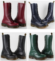 Wholesale Dr Original Martens Vintage Black Cherry Red Dark Blue Green Smooth Women s Boots