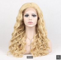 Wholesale Top quality A european remy human hair blonde color full lace wig deep wave DHL