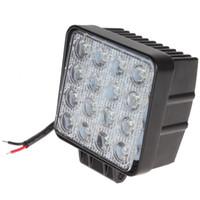 Wholesale hot Lumen W High Power X W Bead LEDs Square Offroad LED Work Light CEC_425