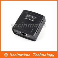 1 Port Wired  USB 2.0 Ethernet Networking LPR Print Server Share Hub Wholesale