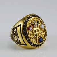 Wholesale stainless steel gold gothic sports rings for world championship commemorate Rings