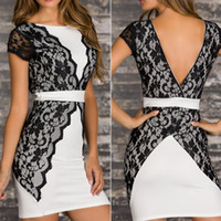 Work Sheath Mini career dresses New 2014 Spring And Summer Sexy Women Lace Spaghetti Strap Clothing One Size Free Shipping