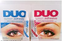 black eyelash glue - Factory Direct Pieces New Professional Makeup New g Duo Water Proof Eyelash Adhesive Eyelash Glue Clear Black White