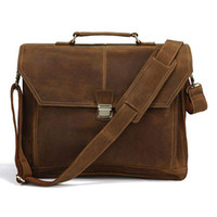 as picture  crazy horse leather - New Arrival Hot Crazy Horse Leather Men s Briefcase Laptop Handbag Messenger Bag