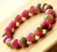 Wholesale Natural watermelon tourmaline crystal bracelet female accessories bracelets accessories jade bracelet
