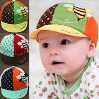 Wholesale 2014 spring new arrival child lovely animal sun hats baby Peaked cap Visor hats baseball cap lovely Bee Shaped caps Children s Caps amp Hats