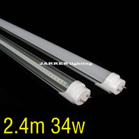 T8 34w SMD3014 G13 Fa8s 34W T8 LED Tube lamp 2.4m 8 Feet SMD 3014 2388mm 240cm 8 FT Fluorescent Tube Wide voltage AC85-265v Straight tube lamp Light
