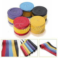 Wholesale NEW Anti slip Tennis Racquet Racket Handle Tape Badminton Squash Bat Over Grips Roll Bands Gift