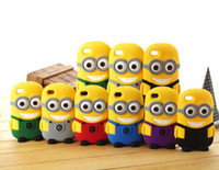 Wholesale 100 D Cartoon Despicable Me Minion Minions Soft Silicone Rubber fragrance skin Case cover For Cell phone Apple iphone S S
