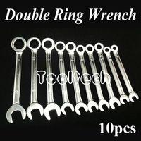 al por mayor combination wrench set-Freeshipping Métricas 10 tamaños cromo vanadio Trinquete Rueda Doble Uso Abrir / Anillo Llave de combinación Llaves Set Kit de herramientas