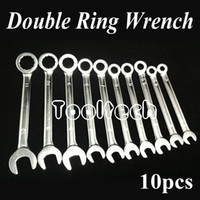 Wholesale Freeshipping Metric sizes Chrome Vanadium Steel Ratchet Wheel Dual use Open Ring Spanner Combination Wrenches Set Tools Kit