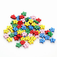 Quilt Accessories Bakelite 2-Holes Button 20pcs lot DIY Accessory 13*12.5mm Home Decor Mixed Color Star Shaped Wooden Flatback Button Decoration