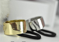 Wholesale New Popular Fashion Stylish Personality Metal Hair Cuff Ponytail Holder NEW gold color