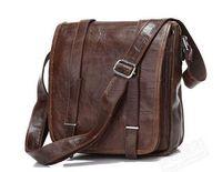 Wholesale 2014 New Cool Office Real Vintage Cow Leather Unisex Cross Body Bag Messenger Shoulder bag