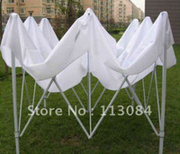 Wholesale high quality ft x ft white steel frame gazebo tent