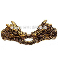 Charms Jewelry Findings Metal 20Sets Antique Gold Dragon Head Lock Clasp + End Caps Clasps with Spring inner hole 6mm For Leather Cords Bracelet Findings