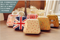 Wholesale Children s stationery New cute mini handbag style secret Tin case box gift metal case