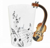 Wholesale Violin Holds Tea Coffee Ceramic Mug Special Cup Creative Mug for Home Decoration