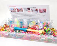 Unisex 8-11 Years Multicolor Bracelet Loom Kit ( 48 color S clips+1loom + 1 hook +over 1200 pcs bands) Bracelet loom Bands Storage Kit