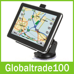 Wholesale 7 inch Car GPS Navigation Vehicle Navigator MTK MB GB With Bluetooth AV FM Multilingual Win CE New Map Free DHL
