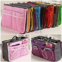 Wholesale big promotion Women Travel Insert Handbag Organiser Purse Large liner Organizer Tidy Bag Pouch