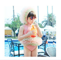 Girl One-piece 2-6 Year 2014 New style Children Swimwear Girls connection Swimsuit Lace thick and disorderly Skirt Kids Bathing Suit 5pcs lot TX426