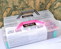 Wholesale Rainbow Loom Bands Family cases box For KID DIY Bracelet with loom pack scilps pack charms pack Bands