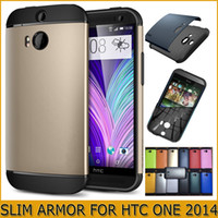 Wholesale SGP Slim Armor Case for All New HTC ONE M8 one2 Hard PC Soft TPU Hybrid Double Layer Back Skin Cover amp Retail Package DHL
