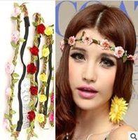 Wholesale Trial order new headwear Flower Crown Floral Crown Flower Headband Hair Wreath girls hair accessories