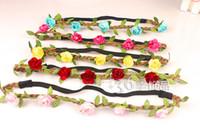 Headbands mixture Bohemian Bride Bohemian Flower Headband Festival Wedding Floral Garland Hair Band Headwear Hair Accessories for Women 12pcs lot