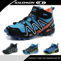 Wholesale 2014 New High Top Salomon SpeedCross CS Mid for Men Athletic athletic sneakers Outdoor Sport Hiking shoe Zapatillas Hombre Solomon